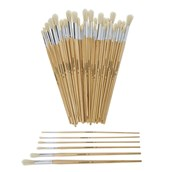 Classmates Long Round Paint Brushes - Assorted Sizes - Pack of 60