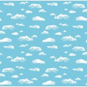 Fadeless® Extra Wide Cloud Design Display Paper Roll- 1218mm x 3.6m