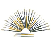 Classmates Short Round Paint Brushes - Coloured Handle - Assorted - Pack of 30