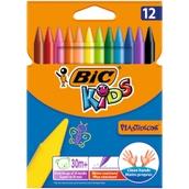 Bic Kids Plastidecor Crayons - Pack of 12