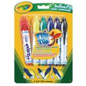 Crayola Flip Top Markers - Pack of 6