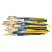 Classmates Short Round Paint Brushes - Coloured Handle - Size 18 - Pack of 30