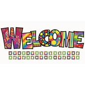 Razzle Dazzle Welcome Bulletin Board Set - Pack of 35