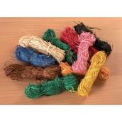 Coloured Raffia - Pack of 10