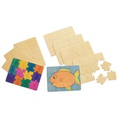 Create Your Own Wooden Puzzle - Pack of 12