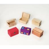 Wooden Treasure Box - Pack of 12