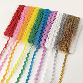 Rick Rack Ribbon Assorted 11mm x 4.7m - Pack of 10