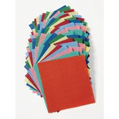 Assorted Coloured Binca Squares - Pack of 50