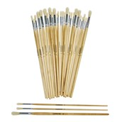 Classmates Long Round Paint Brushes - Assorted Sizes - Pack of 30