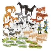 Farm Animals and People - Pack of 38