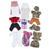 Multicultural Doll's Clothes - Pack of 8