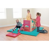 Rainbow Toddler Soft Play Mats - Pack of 6