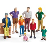 Lakeshore Learning Block Play People - Family with White Skin