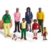 Lakeshore Learning Block Play People - Family with Black Skin