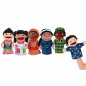 Multicultural Puppets - Pack of 6