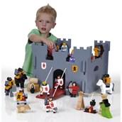 Wooden Medieval Castle and Figures
