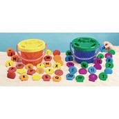 Alphabet and Number Shells Offer - Pack of 46