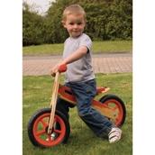 My First Wooden Balance Bike Red