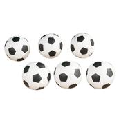 Football Pack - Black/White - Pack of 6