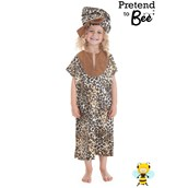 Multicultural Costumes - Printed tunic dress and hat - 3-5 Years