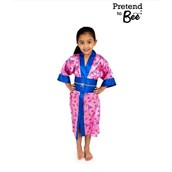 Multicultural Costumes - Printed satin kimono and obi belt - 3-5 Years