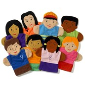 Children Of The World Puppets - Pack of 8