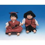 Children of the World Soft-bodied Dolls: Mei and Jian