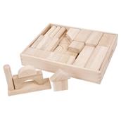 Bigjigs Toys Jumbo Wooden Blocks in Storage Tray - Pack of 54
