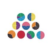 Rainbow Fractions Circles - Set 9