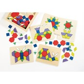 Wooden Shapes and Patterns Box