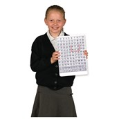 Double-sided Dry-wipe Counting Boards - Pupil - Pack of 30