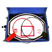 Sure Shot Basket/Netball in a Box - Blue/Red/White