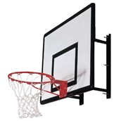 Sure Shot Wall Mount Basketball System - White/Red/Black