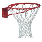 Sure Shot Ultra Heavy-Duty Euro Basketball Ring and Net Set - Red/White