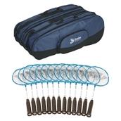 Carlton Maxi Blade ISO 4.3 Badminton Racquet - Blue - Pack of 15