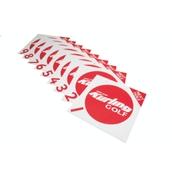 New Age Kurling Golf Target Mat Set 1-9 - White/Red