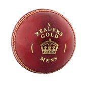 Readers Gold Cricket Ball - Red/Gold - Junior (4.75oz)