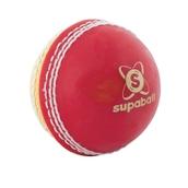 Readers Supaball Cricket Ball - Red/Yellow - Junior
