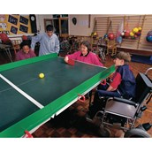 Polybat Table Tennis Set - Red/Green