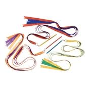 Glitter Ribbon Sticks - Assorted - Pack of 3
