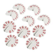 Double-Sided Number Fans - Pack of 10