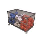 Lockable Mesh Storage Trolley - Black