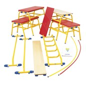 Gym Time Introductory Apparatus Pack - KS1 - Yellow/Red