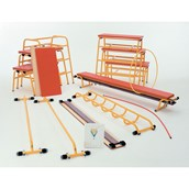 Gym Time Complete Apparatus Pack - Yellow/Red