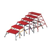 Universal Nesting Agility Tables - Red - Pack of 4 (Sizes 61, 76, 91, 107cm)