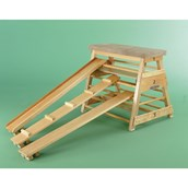 Niels Larsen Ribbed Bar Box (Without Transport Gear) - Wood - 107cm