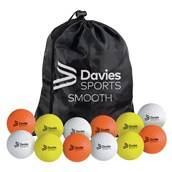 Davies Sports Practice Hockey Ball - Smooth - Assorted - Pack of 12