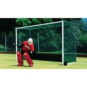 Harrod Sport Premier Hockey Goal - Regulation Backboard - White - Pair