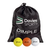 Davies Sports Practice Hockey Ball - Dimpled - Assorted - Pack of 12