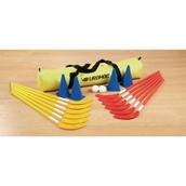 Eurohoc Floorball Hockey Set - Red/Yellow/Blue - Junior